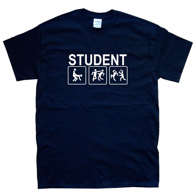 7aded4e2e Hot selling top awesome Tee shirts LIFE OF A STUDENT new design cheap T  shirts online Short Sleeve T-Shirt Free Shipping