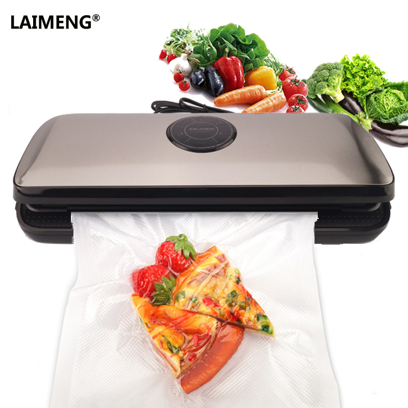LAIMENG Vakuum Versiegelung Maschine Küche Lagerung Appliance Vakuum Beutel Für Lebensmittel Erhaltung Vakuum Packer 110 v 220 v Verpackung S153