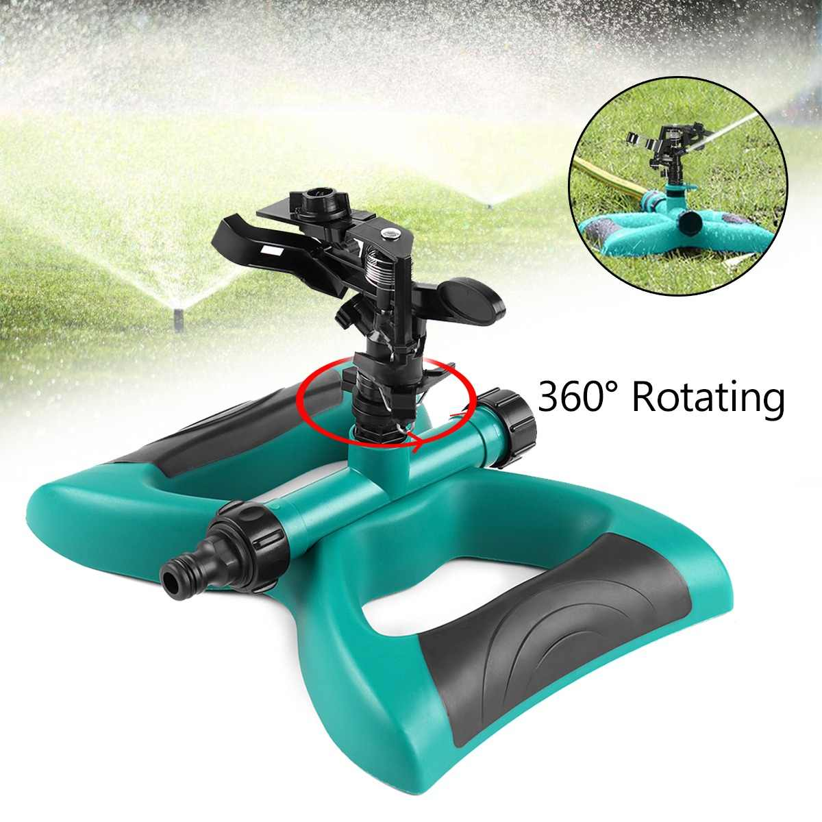 Garden Rotating Sprinkler Watering Systems 360 Degree Lawn Sprinkler Garden Plant Yard Rotation Irrigation System Self Watering
