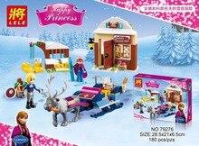SY372 LELE 79276 Ice Kingdom Realm Kristoff Princess Anna Sled Minifigures Building Compatible with legoe 41066