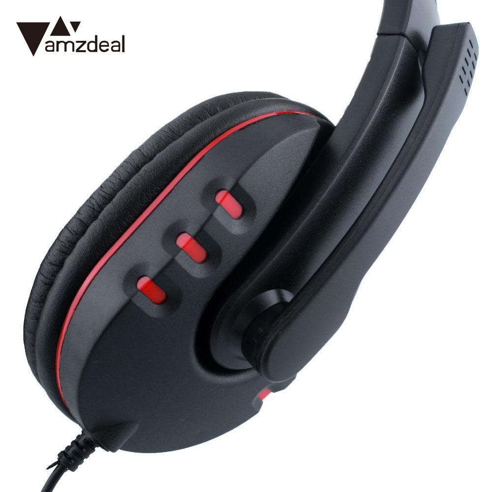 amzdeal Wired Gaming Earphone Headset HI-FI Stereo Sound Retro Best Price Headfone Casque With Microphone for PS4  Gamer rock y10 stereo headphone earphone microphone stereo bass wired headset for music computer game with mic
