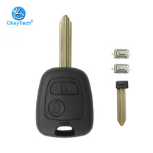 OkeyTech for Citroen C1 C2 C3 Saxo Xsara Elysee Picasso Berlingo Key Shell 2 Button Remote Car Key Cover Case Replacement Fob(China)