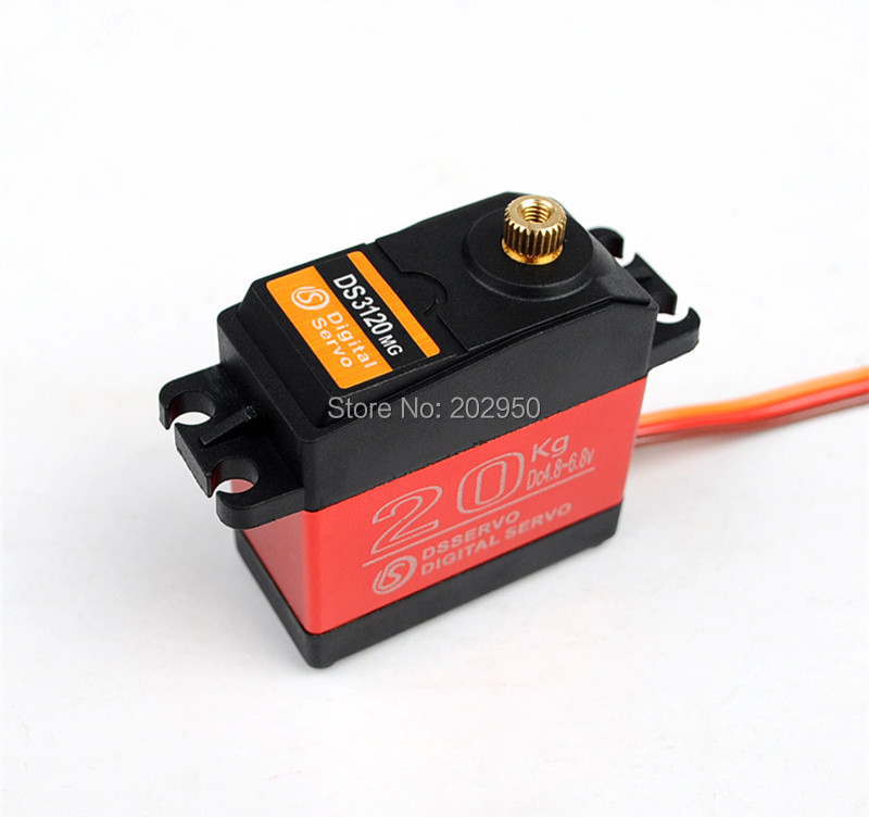 Image 3 - DS3120 20KG High Torque Servo Metal Gear Steering Servo For HSP 1/8 1/10 RC Car 94188 94111 94123 94762 Baja 180 270 Degree-in Parts & Accessories from Toys & Hobbies