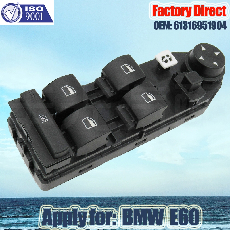 Factory Direct Auto Power Window Switch Apply for BMW E60 E61 5-Series left Driver side Window Switch 61316951904 Lifter Switch