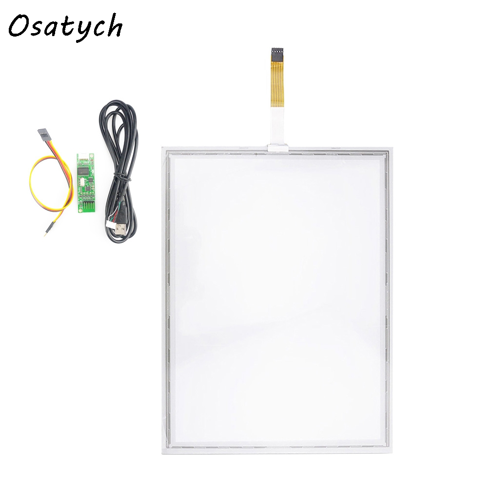 15.6 inch 5 Wire Resistive Touch Screen Kit 327.8x255.1mm Panel with USB Contorller