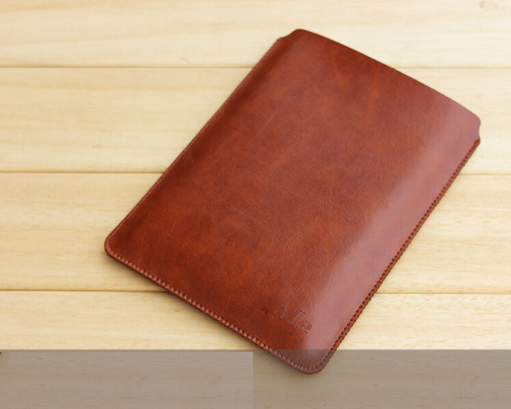 W443 Microfiber leather tablet sleeves e-book covers cases for kindle voyage coffee Black