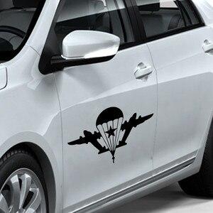 Image 3 - SLIVERYSEA автомобильные наклейки индивидуальные украшения для автомобиля, армия, веер, военный, русский, воздушная, Виниловая наклейка для автомобиля