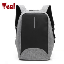 2017 New Canvas men and womne backpack USB Charging Port unisex for Laptops School with Anti-theft Pocket backpack student bag