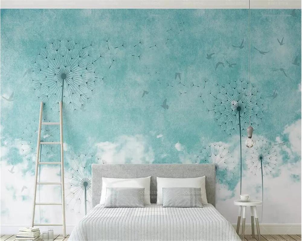 Behang Kinderkamer Scandinavisch : Beibehang custom made fresco wallpapers d verse moderne