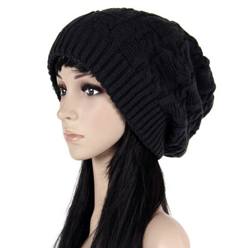 Mileegirl Fashion Women Beanies Skullies Warm Stripes Knitted Gorros Bonnet Female Autumn Winter Hat Cap For Girl HT53001+40 skullies