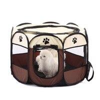 Hot Convenient Cute Portable Foldable Pet Puppy Dog Cat Rabbit Fabric Playpen Crate Cage Kennel Tent Pet Supplies XH8Z NO02