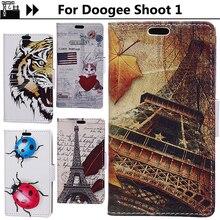 Чжурчжэней Чехол Для Doogee стрелять 1 чехол мультфильм печати Мода ретро Античная силиконовая кожа флип Для Doogee стрелять 1 Принципиально