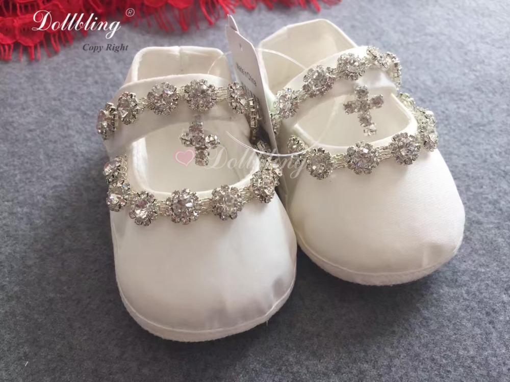 Chinese Red Outfit Dress Match Baby Shoes Posh Luxury Sparkle Bling Unique Infant Baptism Crib Shoes Keepsake Free UK Delivery