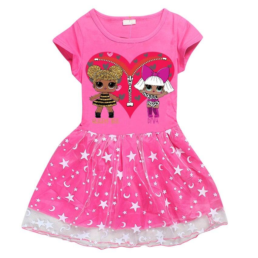 aca552d8e73e Roblox vestito dalla ragazza del vestito della neonata Casual Maniche Corte  Palla rotonda collare Abito vestito dal fumetto neonata vestiti  abbigliamento ...