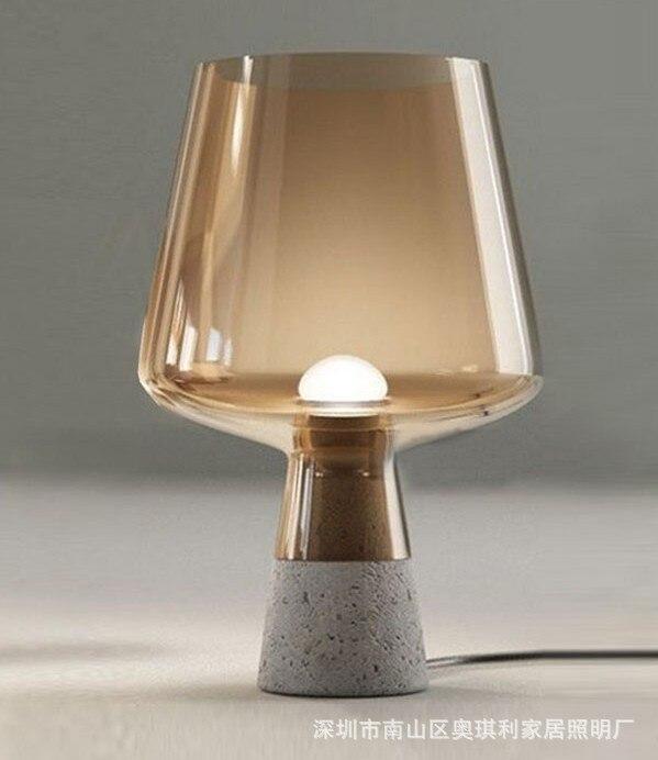 Lampe de Table en ciment pour chambre salon moderne Design de mode lampe de Table abat-jour en verre créatif
