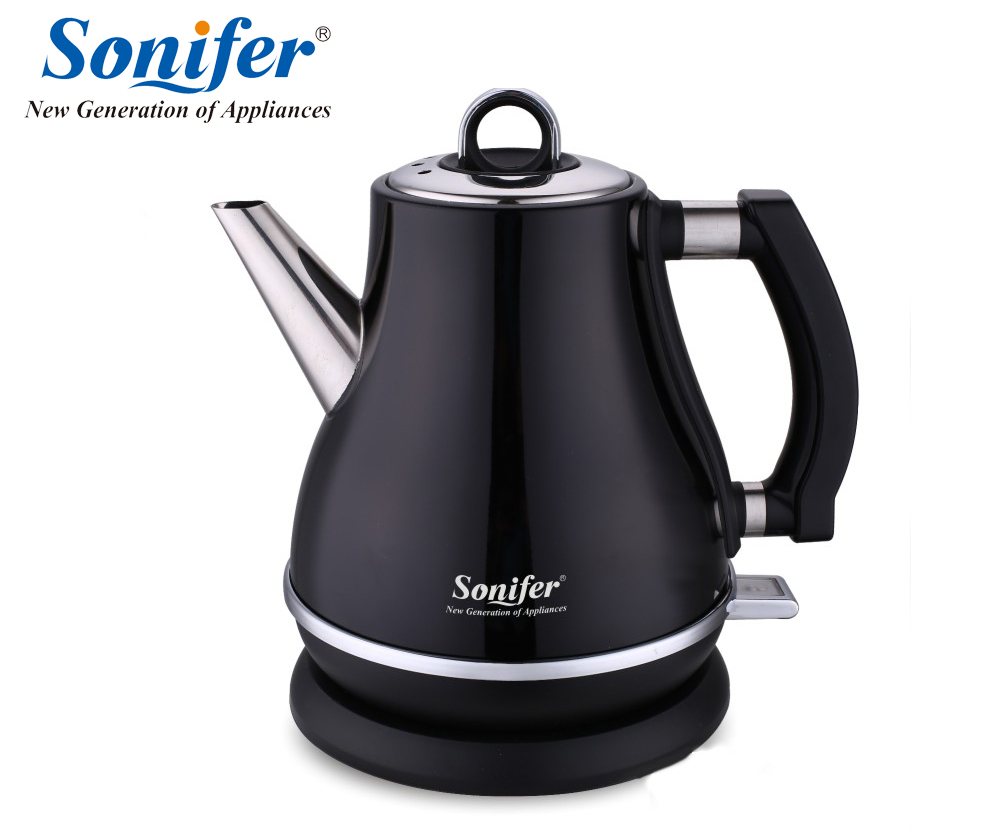 1.2L Colorful 304 Stainless steel Electric Kettle 1500W Household 220V Quick Heating Electric Boiling Pot Sonifer 220v 600w 1 2l portable multi cooker mini electric hot pot stainless steel inner electric cooker with steam lattice for students