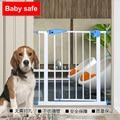 Sólido Escalera Barandilla Bebé Niño Puerta de Seguridad Para Mascotas Perro Aislar Caja Fuerte De Hierro Valla Valla Niño Valla de Seguridad Del Bebé Bebé Escaleras