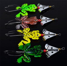 16pcs/LOT Frogs Fishing Lure Set 4pcs/LOT Rubber Soft Fishing Lures Bass SpinnerBait Spoon Lures Carp Fishing Tackle