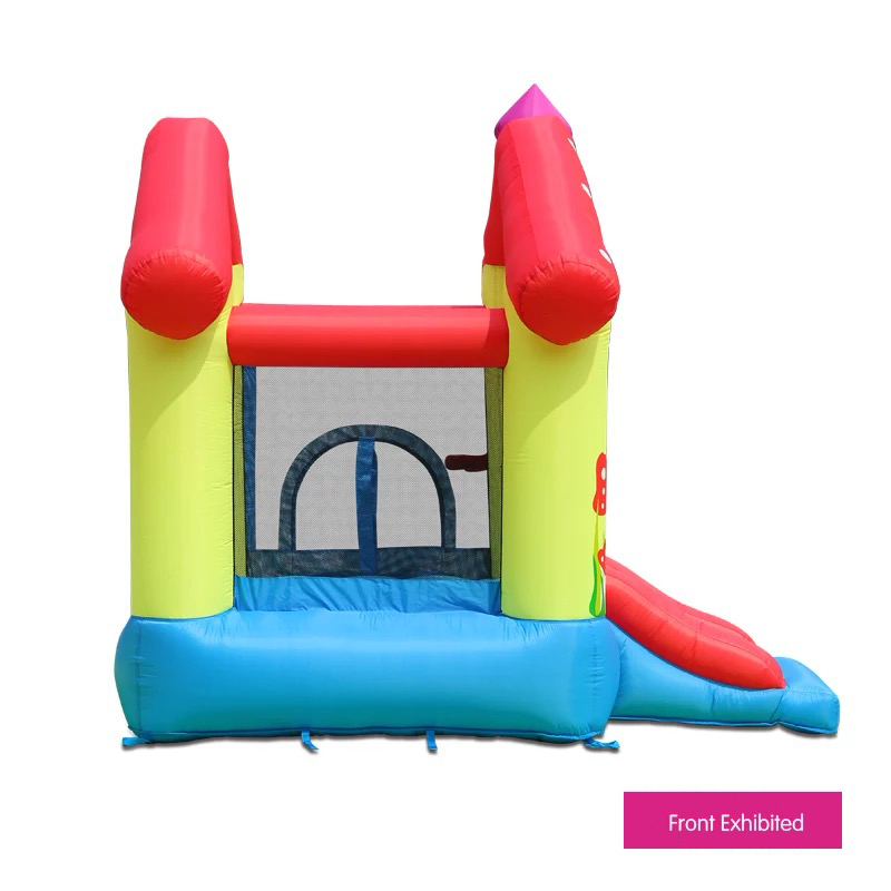 HTB1uN52PFXXXXXMXFXXq6xXFXXXr - Mr. Fun Inflated Bouncing Castle Mushroom Jumper Playhouse with Kids Slide, Ball Pool, & Target Game with Blower