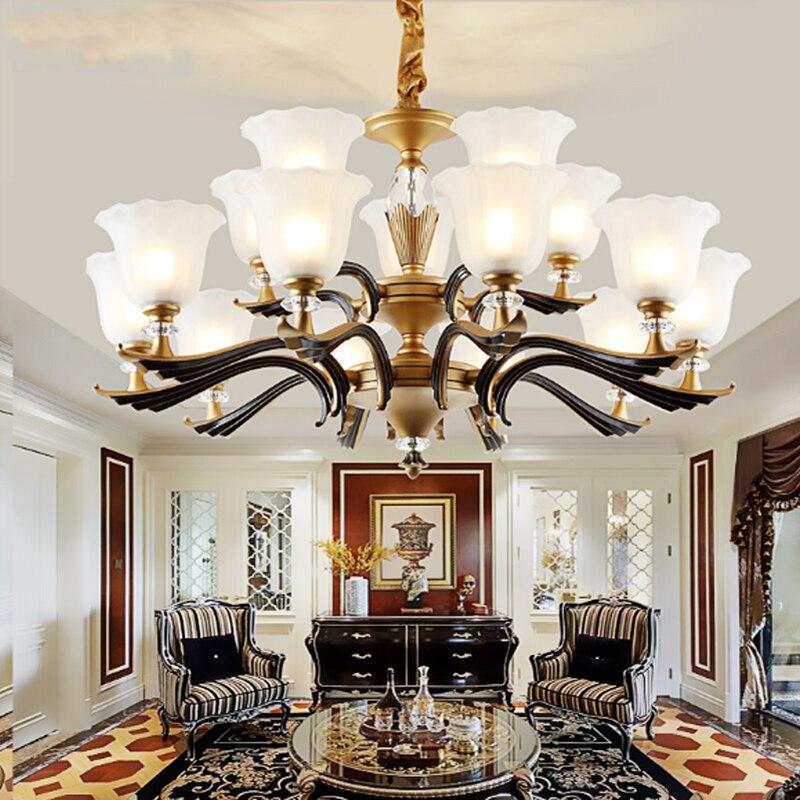 Living room modern led chandeliers bedroom restaurant hand blown glass chandeliers flush mount crystal chandeliers lighting