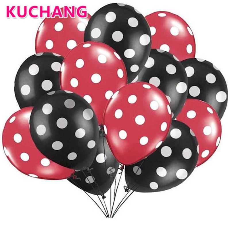 10 pièces/lot ballons en Latex 2.8g à pois coccinelle décorations de mariage fournitures bébé douche Minnie Mickey Mouse fête ballons balle