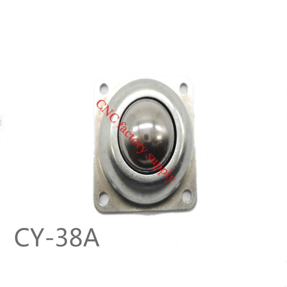 все цены на CY-38A 77MM STEEL bull bovine eye ball wheel universal ball bearing balls transport round universal cooker round ball онлайн