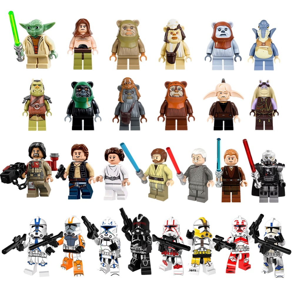 2018 Hot Yoda Gungan Mavel Star Building Blocks Wars Clone Soldiers Han Solo Figures Kids DIY Compatible With Legoingly Toys 30(China)