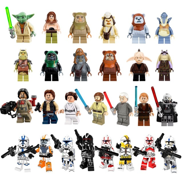 2018 Hot Yoda Gungan Mavel Star Building Blocks Wars Clone Soldiers Han solo Figures Kids DIY Compatible with legoingly Toys 30