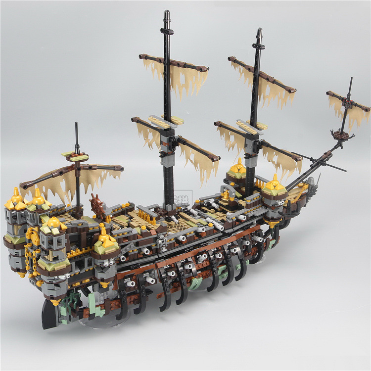 Pirates Ship The Slient Mary Set Pirates of the Caribbean 2344pcs Educational Building Blocks Brick Toys For Kids Gift lepin 16009 caribbean blackbeard queen anne s revenge mini bricks set sale pirates of the building blocks toys for kids gift