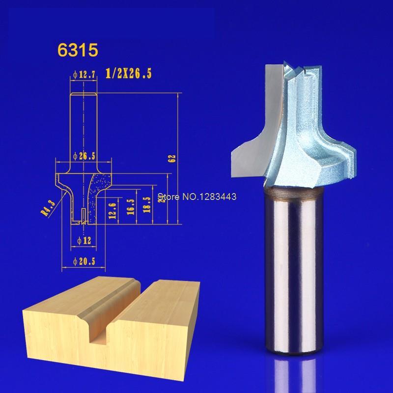 1PC 1 2 26 5mm Woodworking cutter cabinet door frame chamfering gear shaper milling cutter Straight