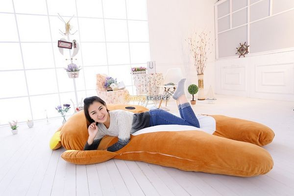 Fancytrader   200cm X 150cm Giant Huge Soft Cute Rilakkuma Double Bed Carpet Tatami Mattess Sofa, FT50336 (10)