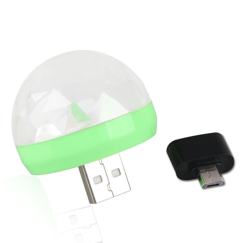 Aimbinet 3W USB Powered Mini RGB LED Disco Ball Shape Stage Effect Party Club DJ Light for Mobile phone,PC,pow bank