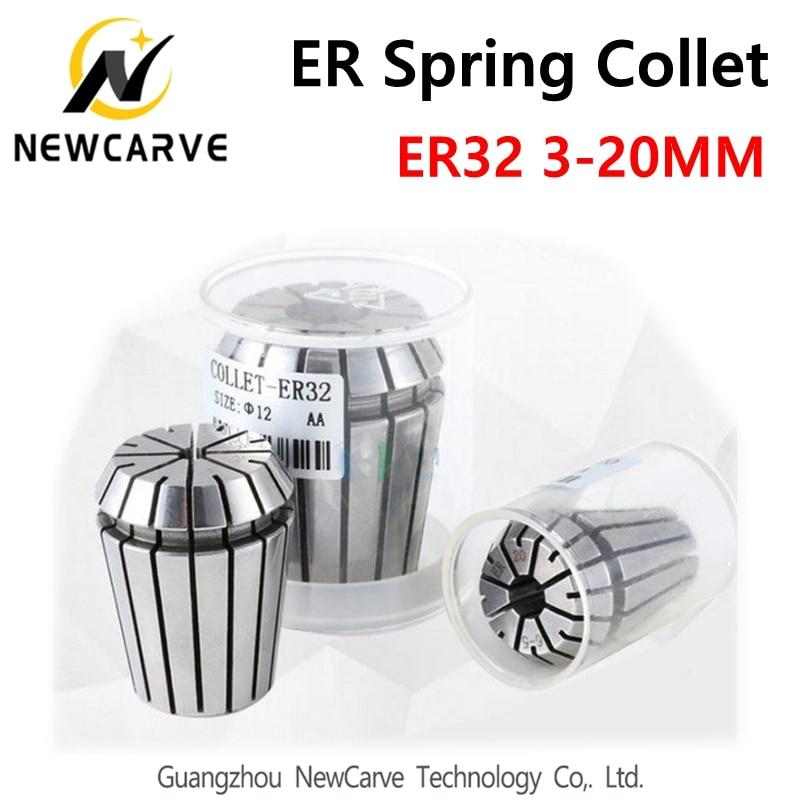 Купить с кэшбэком ER32 Spring Collet Set From 3mm To 20mm 0.01MM ER Collet Chuck Precision for CNC Spindle Motor NEWCARVE