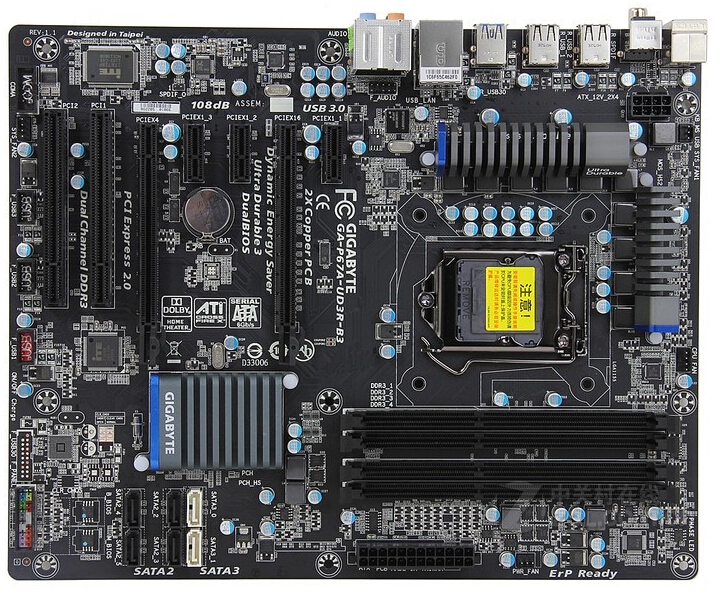 Gigabyte GA-P67A-UD3R-B3 original desktop motherboard DDR3 LGA1155 4 channels 32GB P67A-UD3R-B3 P67 motherboard Free shipping original motherboard for gigabyte ga h61m s2 b3 lga 1155 ddr3 h61m s2 b3 all solid 16gb h61 desktop motherboard free shipping