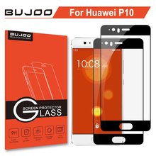 2 Pack 100% Original BUJOO Real 2.5D 0.3mm 9H HD Full Cover Screen Protector Tempered Glass For Huawei P10 P 10 Protective Film