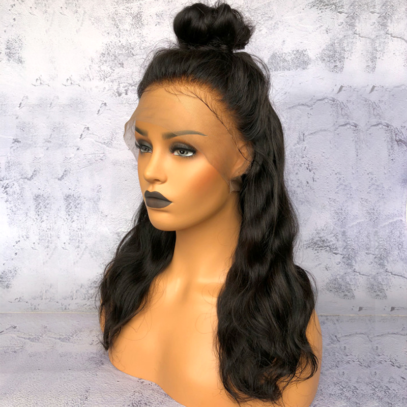 Per Plucked Brazilian Remy Lace Front Human Hair Wigs For Women Body Wave Full End Lace