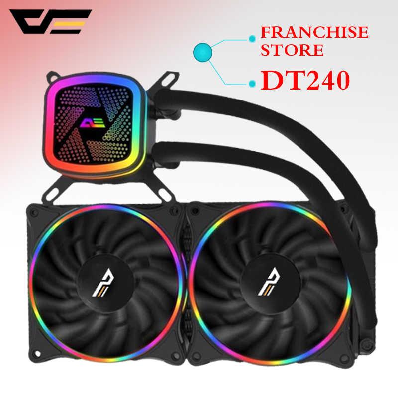 Aigo Darkflash T120/240 PC Case Air Pendingin Kipas Komputer CPU Terintegrasi Pendingin Air Pendingin untuk LGA 775/ 115X/AM2/AM3/AM4