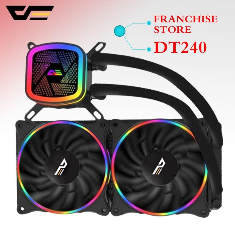 Aigo darkflash T120/240 pc Дело водяного охлаждения Вентилятор компьютера встроенный процессор водяного охлаждения кулер для LGA 775/115x/AM2/AM3/AM4