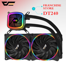 Aigo darkflash T120/240 pc case water cooling computer fan CPU integrated water cooling Cooler For LGA 775/115x/AM2/AM3/AM4(China)
