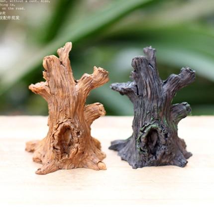€ 79.8 |Nouveau design mini arbre racine ornements fée jardin miniatures  décorations pour terrarium mousse bonsaï pot de fleurs maison résine ...