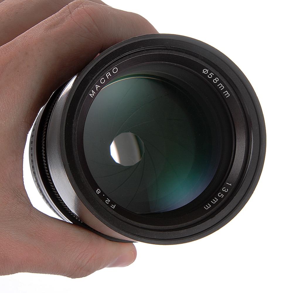Objectif de mise au point fixe manuel plein format 135mm F2.8 pour Canon EOS 350D 1300D 6D 6DII 7DII 70D 80D 5DII III