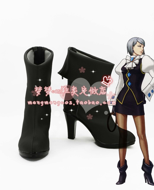 Ace Attorney Franziska von Karma Cosplay Shoes Boots Custom Made
