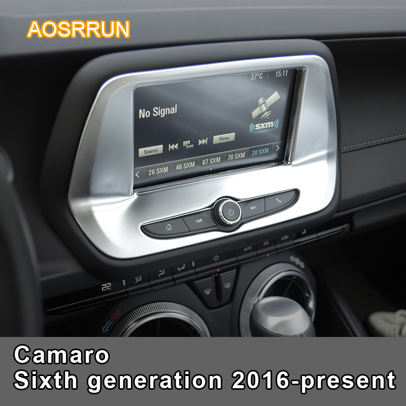 AOSRRUN Mass Abs Car navigation Cover Car accessories For Chevrolet Camaro Sixth generation 2016 present LHD