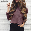 Sunfree 2017 Women Autumn Winter Round Neck Casual Long Sleeve knitting Sweaters Tops Blouse Brand New High Quality Jan 5