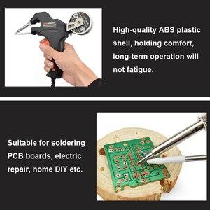 Image 4 - Newacalox kit de ferro de solda elétrica, 50w eu/us, arma de aquecimento interno, portátil, enviar automaticamente, estação de solda de lata, reparo ferramenta,