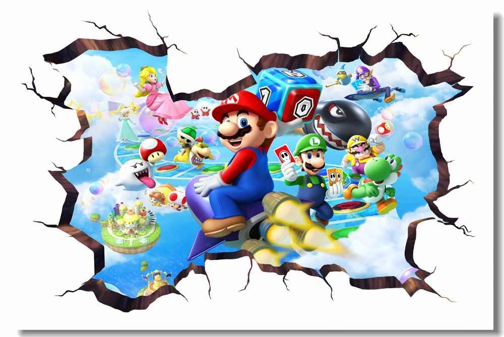 Custom Canvas Wall Decor Mario Party Island Tour Poster