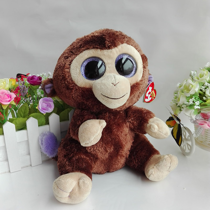 3d52d986f9e All Tags 25CM Original Ty Beanie Boos Plush Toy Big Eyed Stuffed Animal  COCONUT MONKEY Kids Toy Birthday Gift Home Decor-in Stuffed   Plush Animals  from ...