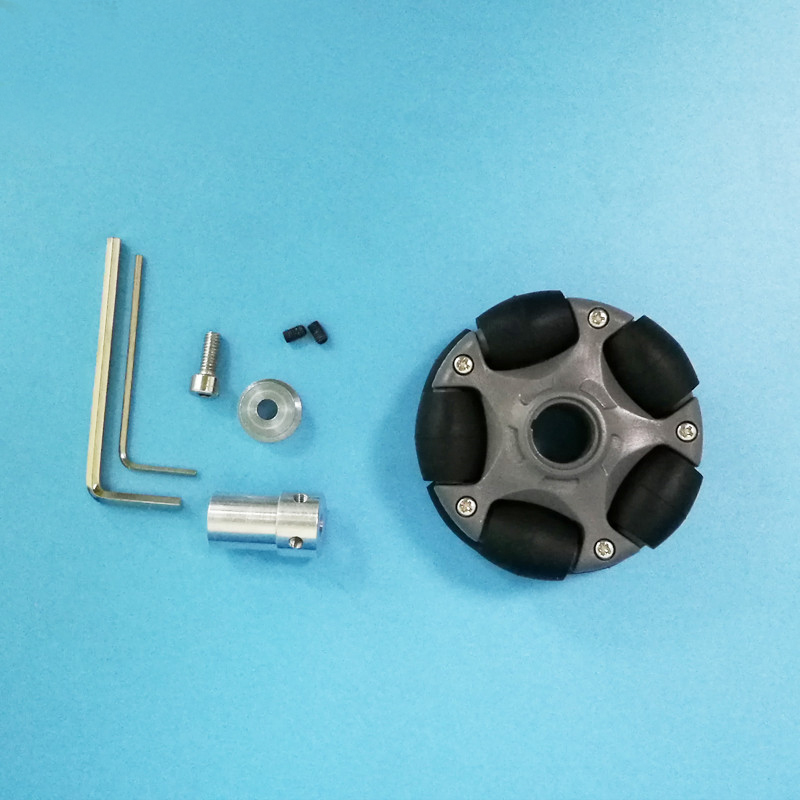 4 шт./лот 58 мм Пластиковые Omni колеса для Arduino набор роботов совместим с NXT пластик/металл муфта/ступица всенаправленные колеса