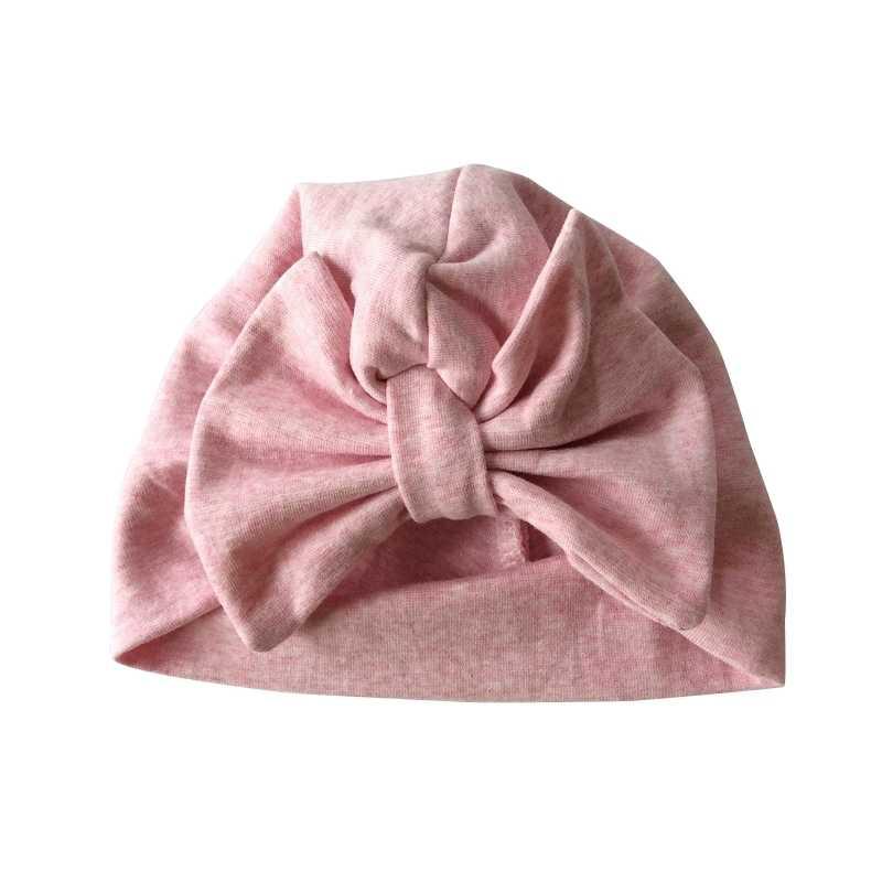 หมวกเด็กฝ้ายใหญ่โบว์หมวกสำหรับเด็กทารก 2 ชั้นผีเสื้ออินเดียหมวกเด็กหมวกฤดูหนาวหมวกเด็ก
