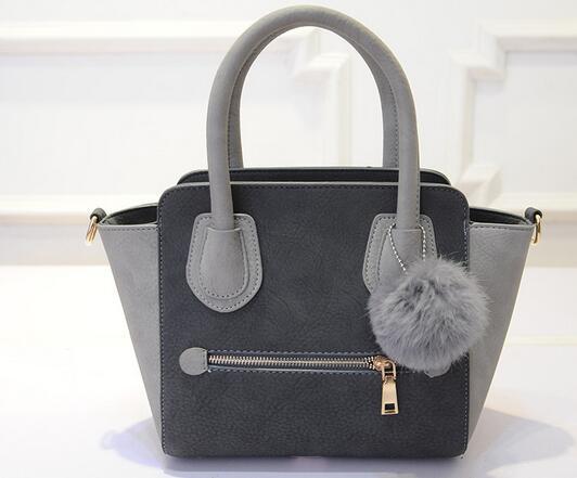 Fashion European style vintage women concise totes smile face bags single shoulder handbags 5 colors